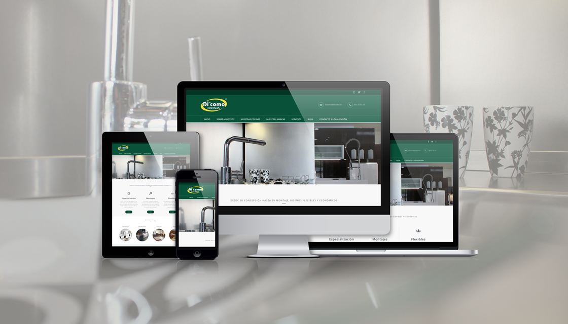 Estrenamos la nueva web de Di'Como Cocinas, tu tienda de muebles de Sevilla