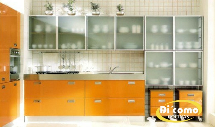 Qué tipo de puertas de cristal hay para los muebles de cocina ...