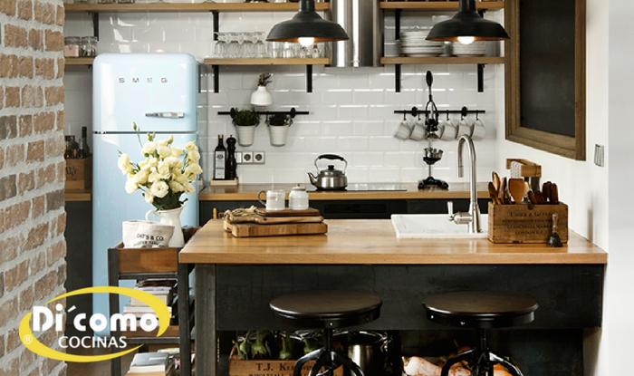 Cocinas pequeñas de estilo industrial