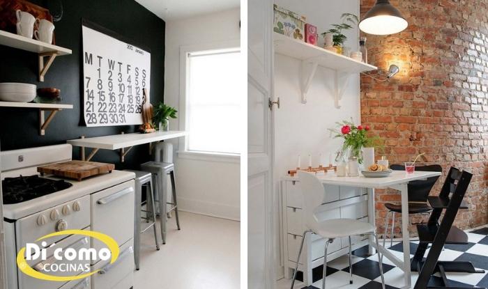 Consejos para tener una cocina pequeña con zona de comedor - Tienda ...
