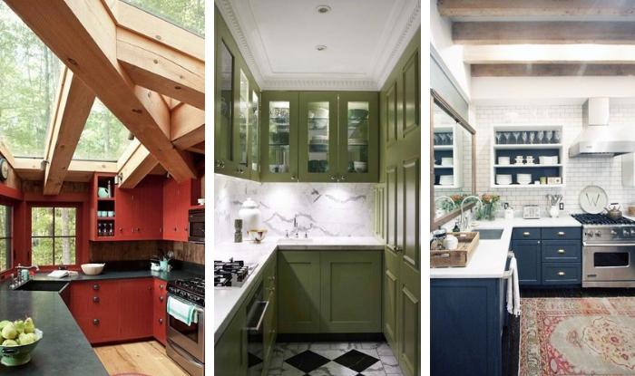 Ideas para poner color en los gabinetes de cocina